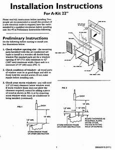 Kenmore 25372115200 User Manual Air Conditioner Manuals