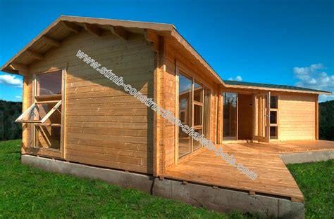 modele de chalet en bois chalet en bois mod 232 le volvic 48 m 178 avec terrasse de 18 m 178