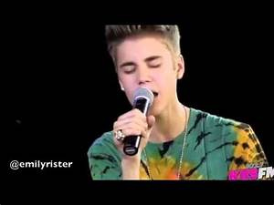 Justin Bieber Singing Catching Feelings Acapella YouTube