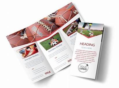 Brochure Sports Template Templates Tri Fold Brochures