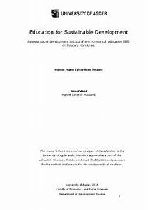 Thesis on sustainable development