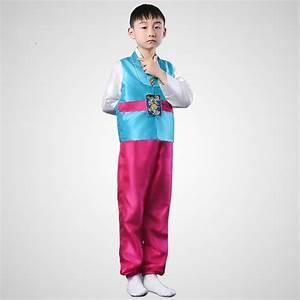 Children Korean National Costume Male Traditional Korean Hanbok 3 PCS Kids Asian National Korean ...