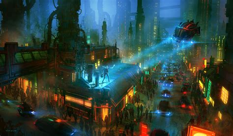 nikolai lockertsen cyberpunk futuristic wallpapers hd