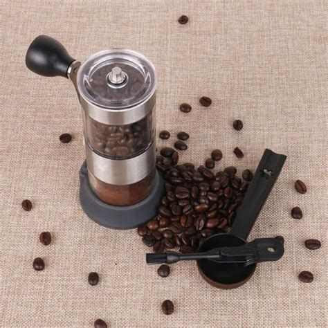 An electric coffee grinder with 10 oz hopper and 3.5 oz container. Home Stainless Steel Adjustable Manual Coffee Grinder Adjustable Coffee and TEA, Coffee Tools ...