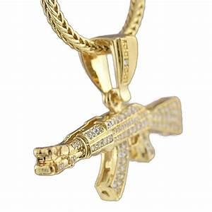 "AK-47 Gold Finish 36"" Franco Chain - Franco Chains"