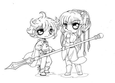 Chibi Elves Lineart By Yampuff On Deviantart