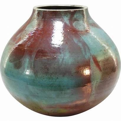 Raku Pottery Rubylane Contemporary Hines Tall Mark