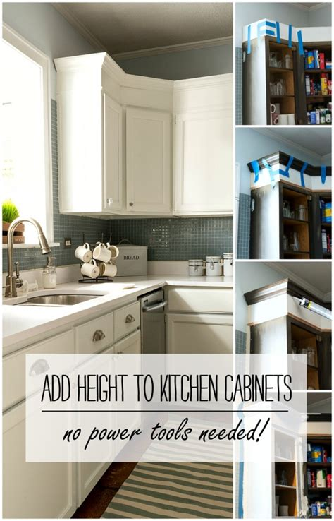 how to add height to kitchen cabinets builder grade kitchen makeover with white paint 9281