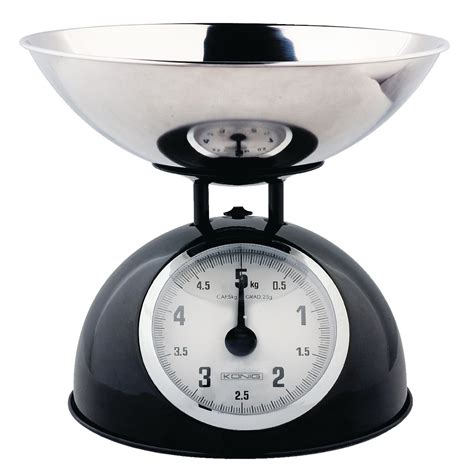balance cuisine vintage hc ks60b könig retro kitchen scale with stainless steel bowl black electronic discount be