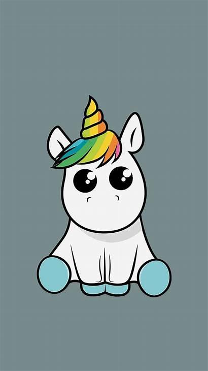 Unicorn Phone Wallpapers Cartoon Cuteunicorn Youloveit Sweet