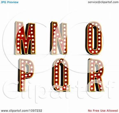 Theatre Clipart 3d Alphabet Illustration Cgi Through