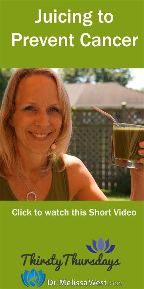 cancer juicing prevent help terri question friend another week juice