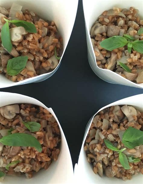 recettes de cuisine fr risotto d épeautre et chignons pour 1 personne