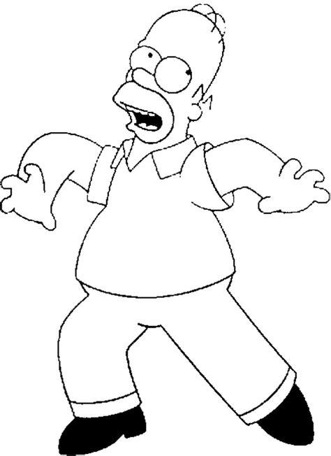 Homer Kleurplaat by Homer Coloring Page Coloring Home