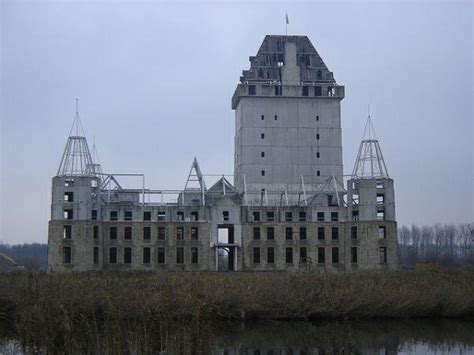 abandoned castle project has become a modern ruin