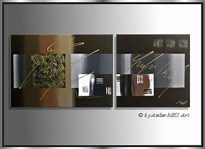MK1 Art Bild Leinwand Abstrakt Gemälde Acryl Malerei