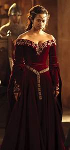 Queen Guinevere's red formal dress! | Merlin - Woven Magic ...