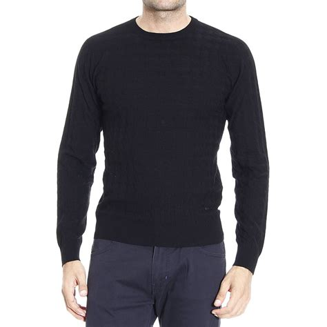 mens black sweater armani sweater in black for lyst