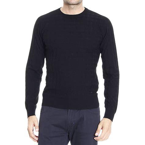 black sweater armani sweater in black for lyst
