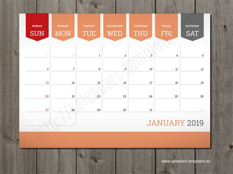 monthly calendar  planner wall  table pad planner template