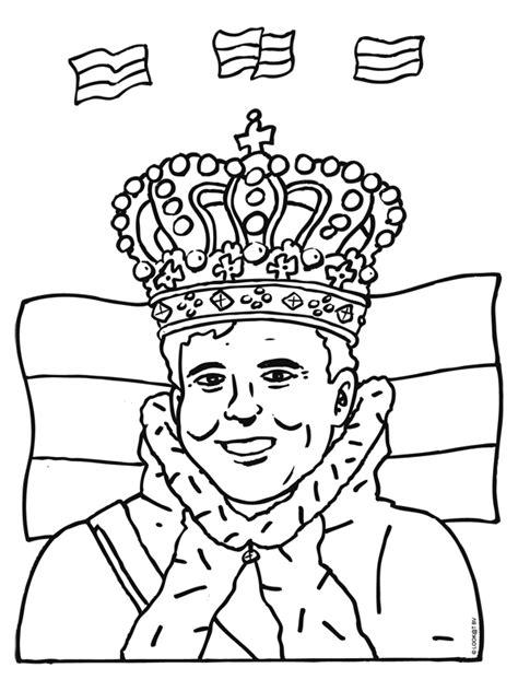 Koning Willem Kleurplaat by Kleurplaat Troonwisseling Koning Willem