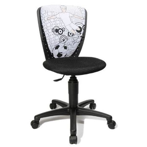 topstar 70560jf40 s cool chaise de bureau pour enfant et adolescent noir motif gar 231 on