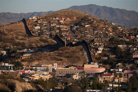 border town built  mexican produce photosimages