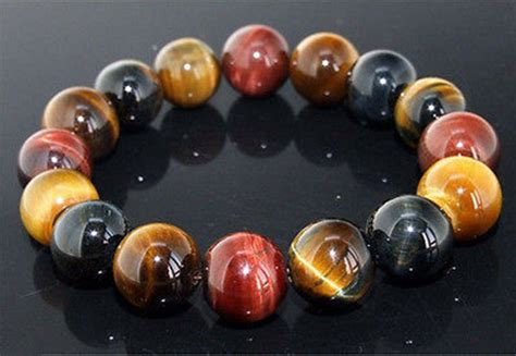 Natural Colorful Tiger Eye Stone Gemstone Beads Men