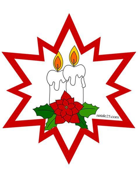 disegni di candele natalizie stella di natale con candele da appendere natale 25