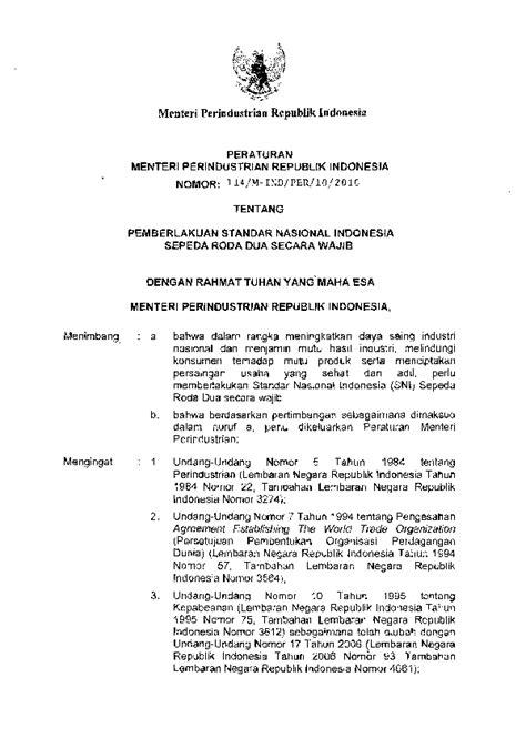 (PDF) Pemberlakuan SNI Sepeda Roda Dua Secara Wajib | Aryo