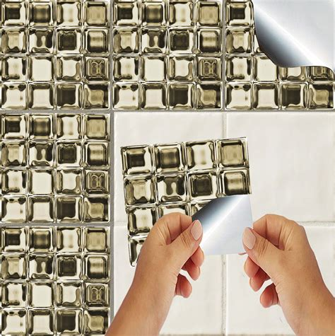 kitchen mosaic wall tiles glass mosaic tile stickers transfers kitchen bathroom 5416