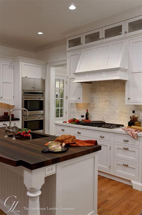 Wenge Wood Countertop On Kitchen Island In Potomac Maryland