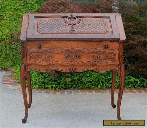 Antique French Oak Louis Xv Fall Front Writing Desk Bureau