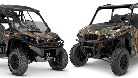 can am commander 2018 can am commander mossy oak edition vs polaris general edition by the numbers