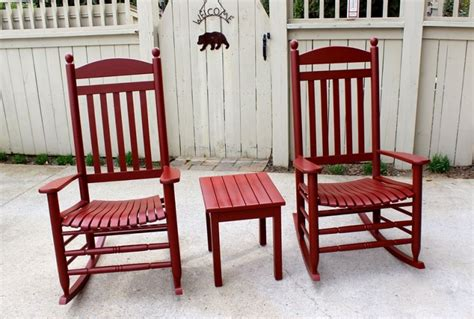 rocking chairs in tuscan milk paint general finishes