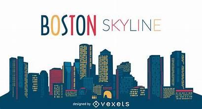 Skyline Boston Silhouette Vector Vexels App Drawing