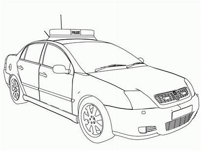 Police Coloring Pages Cars Sheets Drawing Line