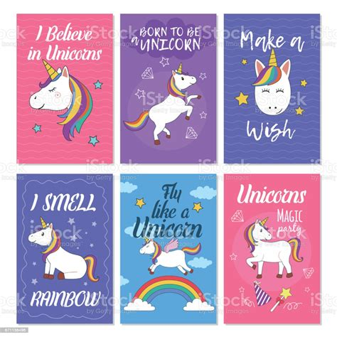 A credit card is a useful tool to help teach your child financial responsibility. Unicorn Greeting Card Set Stock Illustration - Download Image Now - iStock