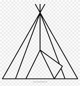 Coloring Teepee Triangle Ultra Pinpng sketch template