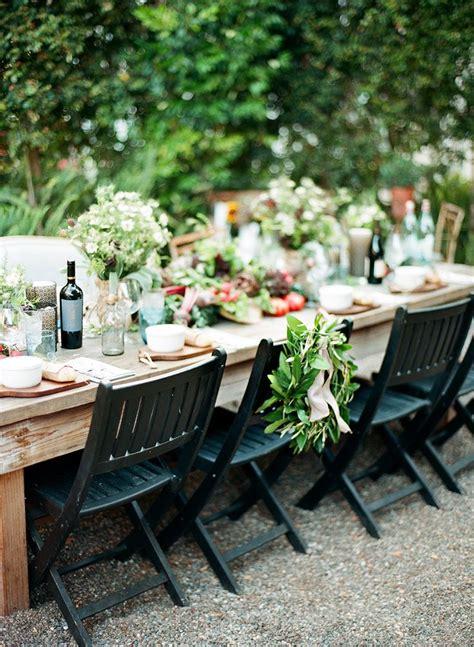 Backyard Table by 30 Stunning Wedding Reception Ideas