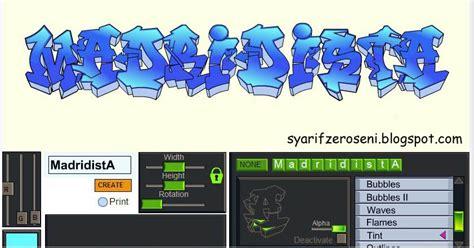 Graffiti Mudah : Cara Membuat Tulisan Graffiti Keren Online Dan Mudah Tanpa