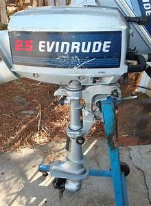 Used 2 5 Hp Evinrude Outboard Boat Motor