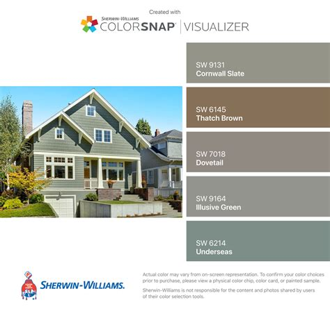 i found these colors with colorsnap 174 visualizer for iphone by sherwin williams cornwall slate