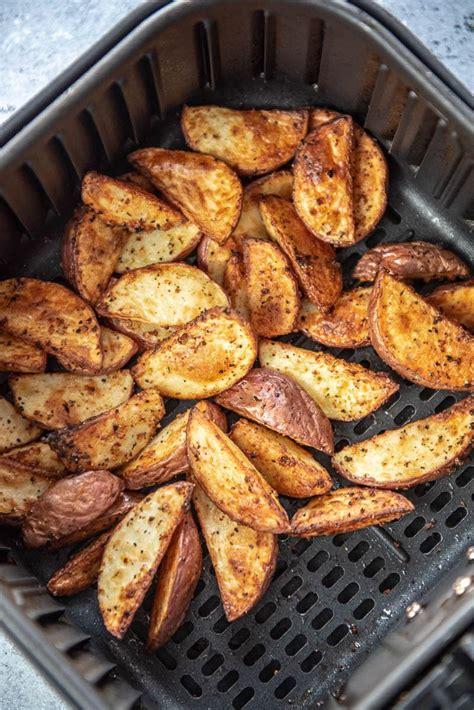 air fryer wedges potato garnishedplate recipe plate recipes notes potatoes