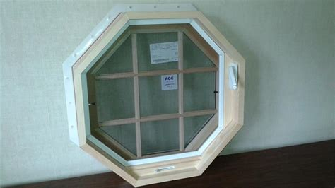 owv   venting octagon window  natural wood