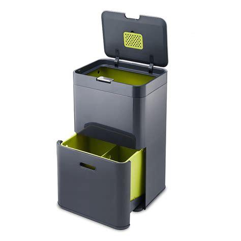 poubelle de cuisine tri selectif totem 48 poubelle 224 tri s 233 lectif anthracite 30020 j