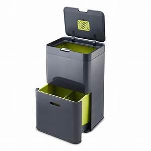 Poubelle De Tri Cuisine : totem 48 poubelle tri s lectif anthracite 30020 j ~ Dailycaller-alerts.com Idées de Décoration