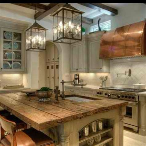 wood island tops kitchens reclaimed wood counter top exposed beams kitchen 1583