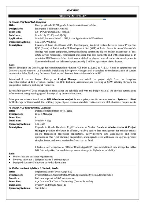 oracle apps project manager resume resume ideas