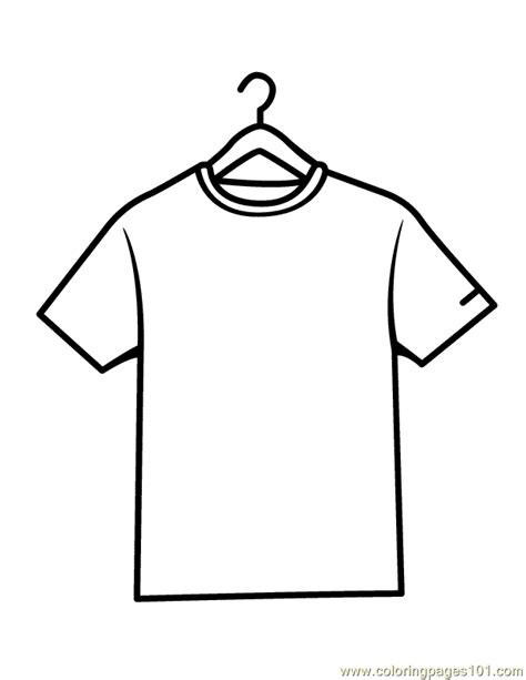Coloring T Shirt by Shirts Coloring Page Free Shirts Coloring Pages